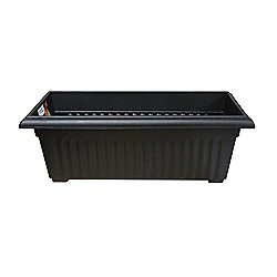 Stewarts Corinthian Trough Planter 70cm Black