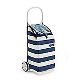 Gimi Italo 52 Litre Shopping Trolley, Blue & White