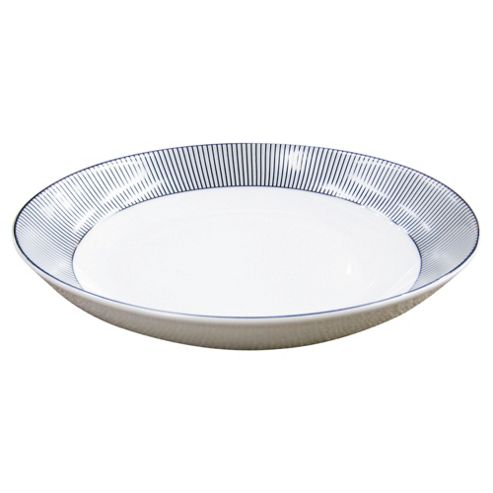 Tesco Pinstripe Porcelain pasta bowl