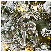 Clear Acrylic Stag Christmas Tree Decoration