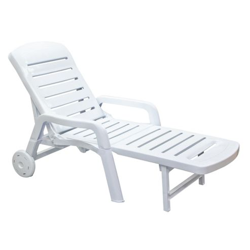 buy resol palamos folding sun lounger white plastic from. Black Bedroom Furniture Sets. Home Design Ideas