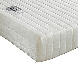 Happy Beds Star Memory Foam Orthopaedic Open Coil Spring Mattress 3ft Single