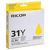 Ricoh GC31Y Yellow Gel Ink Cartridge (Yield 1,920 Pages)