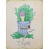 Thyme Tin Sign