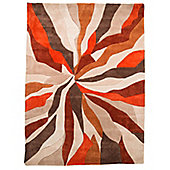 Infinite Splinter Oblong Orange Rug - 80X150 cm