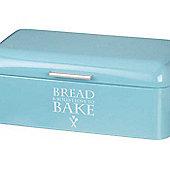 Parlane Shabby Chic Metal Blue 'Love To Bake' Bread Bin - 17 x 42 x 23cm