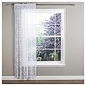 Regency Voile Slot Top Curtain - White