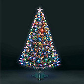 4ft Superstar Green Fibre Optic & LED Christmas Tree