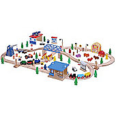 100Pcs Wooden Railway Train Set 50117 - Brio Bigjigs Compatible