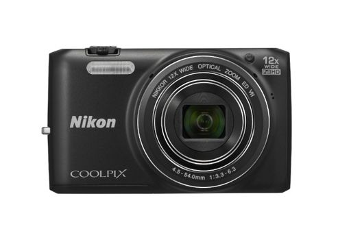 Nikon Coolpix S6800 Camera Black 16.0MP 12xZoom 3.0LCD FHD 25mm Wide Lens