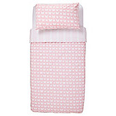 Tesco Kids Pastel Stripe & Butterflies Duvet Set Single