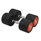 Bodymax Pro V3 Rubber Dumbbells - 9kg