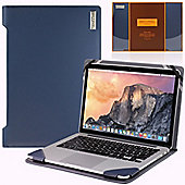 Broonel - Profile Series Blue Vegan Leather Laptop Case For the Apple Macbook Pro 15 inch (fits all generations)