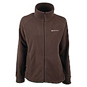 Elm Womens Fleece Jacket Coat Top Full Zip Warm Winter Walking Hiking Sweater - Brown