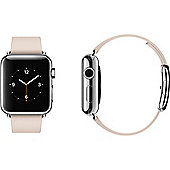 Apple (38mm) iWatch With Soft Pink Modern Buckle - Large