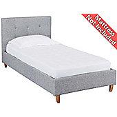 Ultimum Hartford Grey fabric single bed