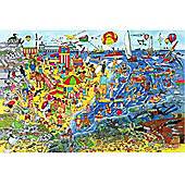 Bigjigs Toys BJ018d Seaside Floor Puzzle (192 Piece)
