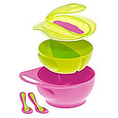 Brother Max Easy-Hold Weaning Bowl Set (Pink/Green)