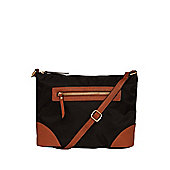 F&F Zip Front Cross-Body Bag One Size Black