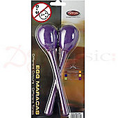 Stagg Purple Long Plastic Egg Maracas