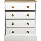 Home Essence Lampton 4 Drawer Wide Chest