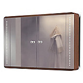 Jupiter Solid Oak LED Bathroom Cabinet With Demister Pad, Sensor & Shaver k83