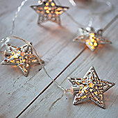 16 Silver Star Indoor LED Fairy Lights