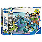Monsters Uni 3 x 49pc Puzzle