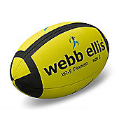 Webb Ellis XR9 Yellow/Black Rugby Ball Size 4