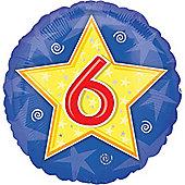 18' Stars and Swirls Birthday Foil - 6 (each)