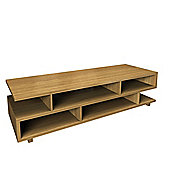 Urbane Designs Hadlee Contemporary Oak Livingroom Small Asymmetric Shelf