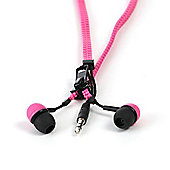 Earphones - Zip Earphones - Pink/Black - Thumbs Up