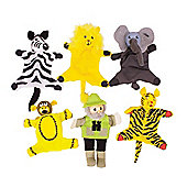 Bigjigs Toys BJ779 Safari Finger Puppets