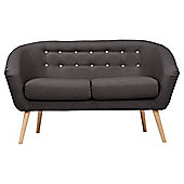 Jemima Tub Sofa Charcoal/Grey Button