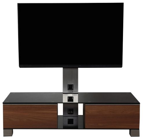 Sonorous Mood Walnut Cantilever TV Unit for up to 50 inch TVs