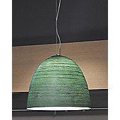 Lucente Deco' 1 Light Bowl Pendant - Amber / 1 x 70W E27 A55