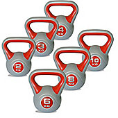 Body Power 2-10kg Vinyl Kettlebells Set of 6