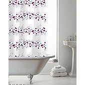 Modern Makeover Hookless Shower Curtain,Pink, Purple & Blue Confetti