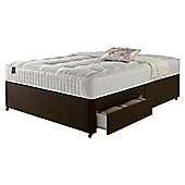 Rest Assured Ortho 2 Drawer Super King Divan Chestnut no Headboard