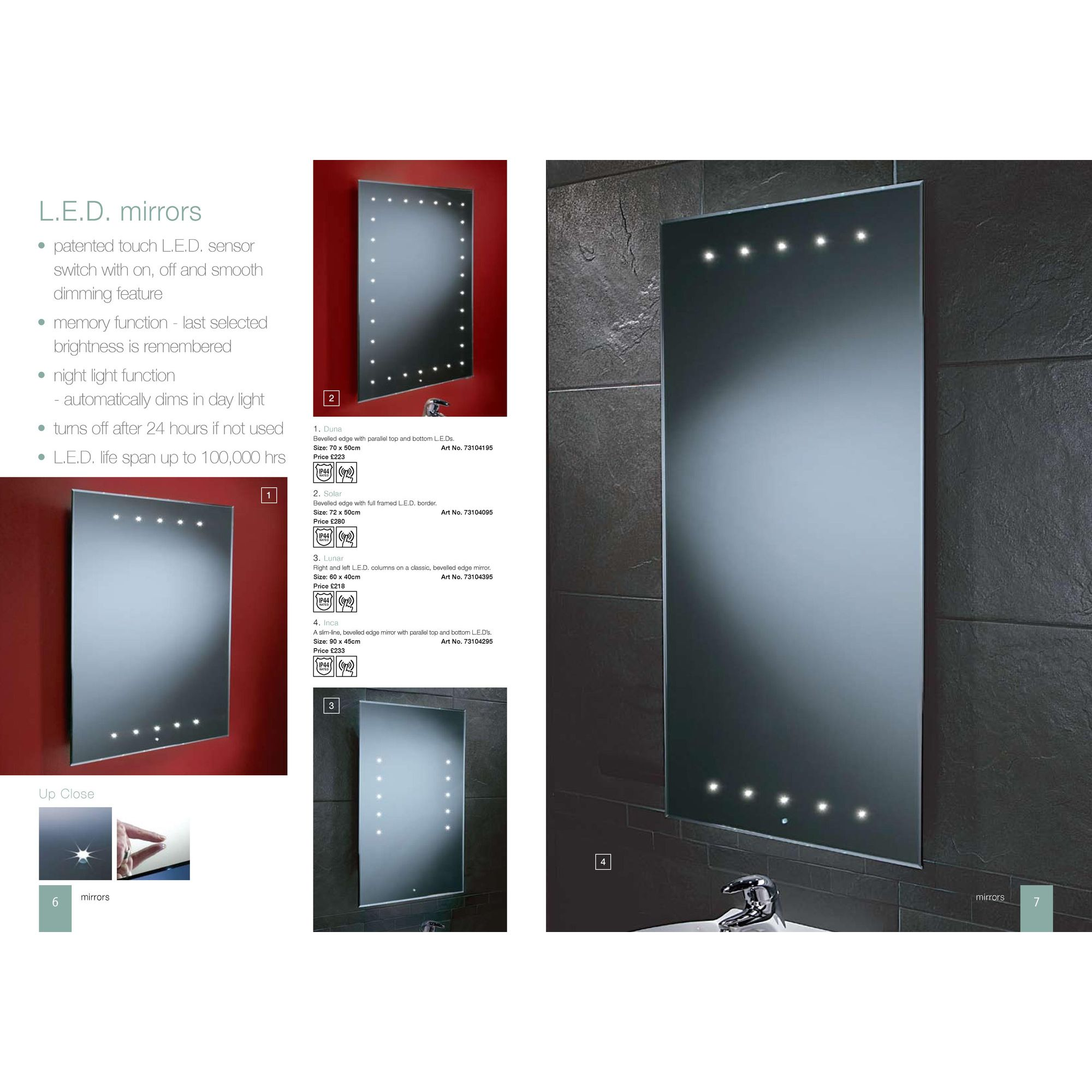 HIB Duna LED Mirror at Tesco Direct