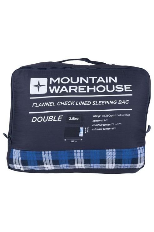 Double Check Flannel Lined Sleeping Bag