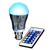 4W Remote Controlled Multi-Coloured GLS B22 LED Bulb