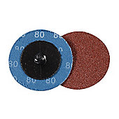 Silverline 50mm Quick-Change Sanding Discs Set 5pce 80 Grit