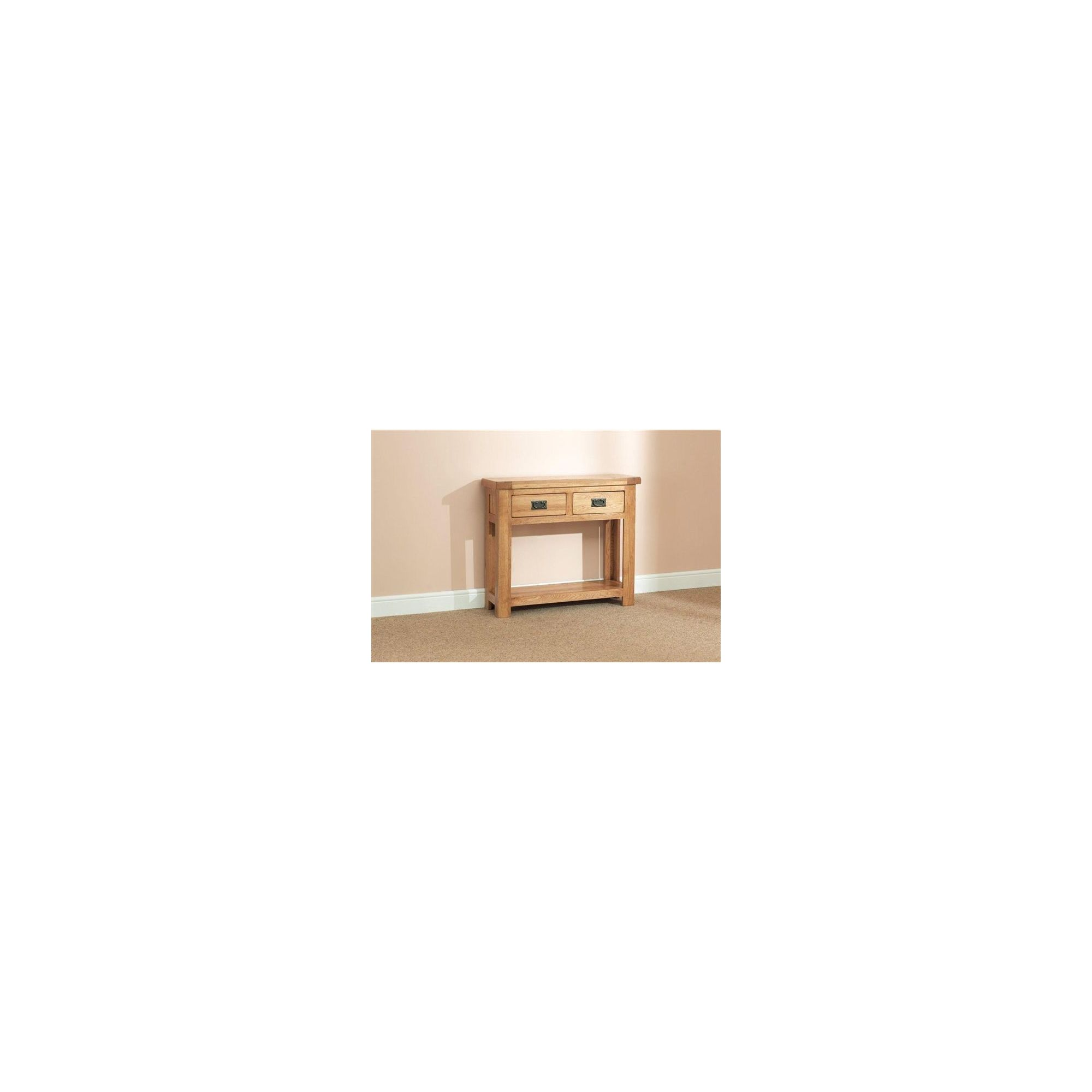 Sleepy Valley Buckingham Oak 2 Drawer Console Table
