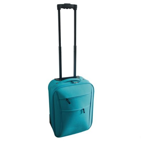 Tesco 2-Wheel Suitcase, Blue Small