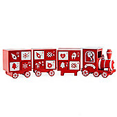 Large Wooden Red & White Christmas Train Advent Calendar