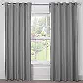 Julian Charles Luna Silver Grey Blackout Eyelet Curtains - 44x72 Inches (112x183cm)