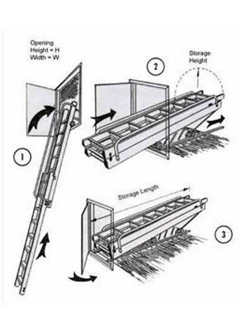 Vertical Carriage Loft Ladder