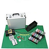 Cq Poker 600 Casino Chips +Shuffler +Felt +Cards +Case