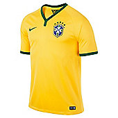 2014-15 Brazil Home World Cup Football Shirt - Yellow
